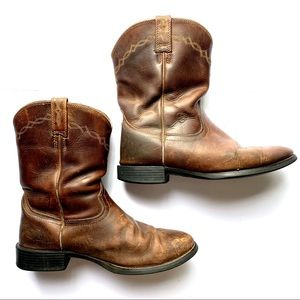 Ariat Brown Leather Boots Size 9